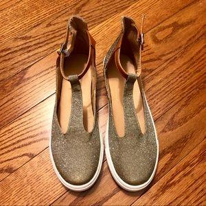 Shoes - NWOB Gold Glitter Maryjane Shoes